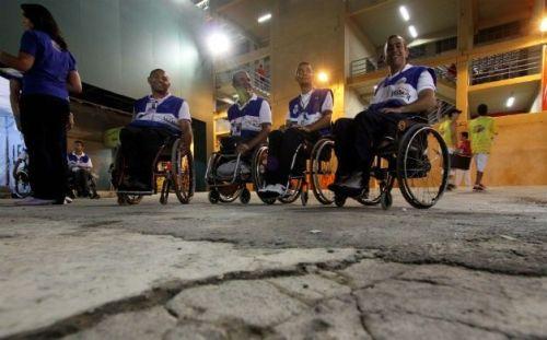 Cadeirantes reclamaram de suas dificuldades mesmo após a reforma do Sambódromo
