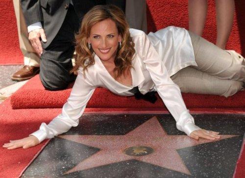 Marlee Matlin na calçada da fama em Hollywood
