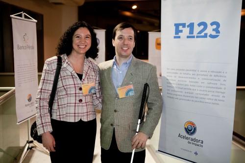 Fernando Botelho, co-fundador do F123 e sua esposa Flávia, selecionados para o Programa de Aceleração de Negócios da Artemisia