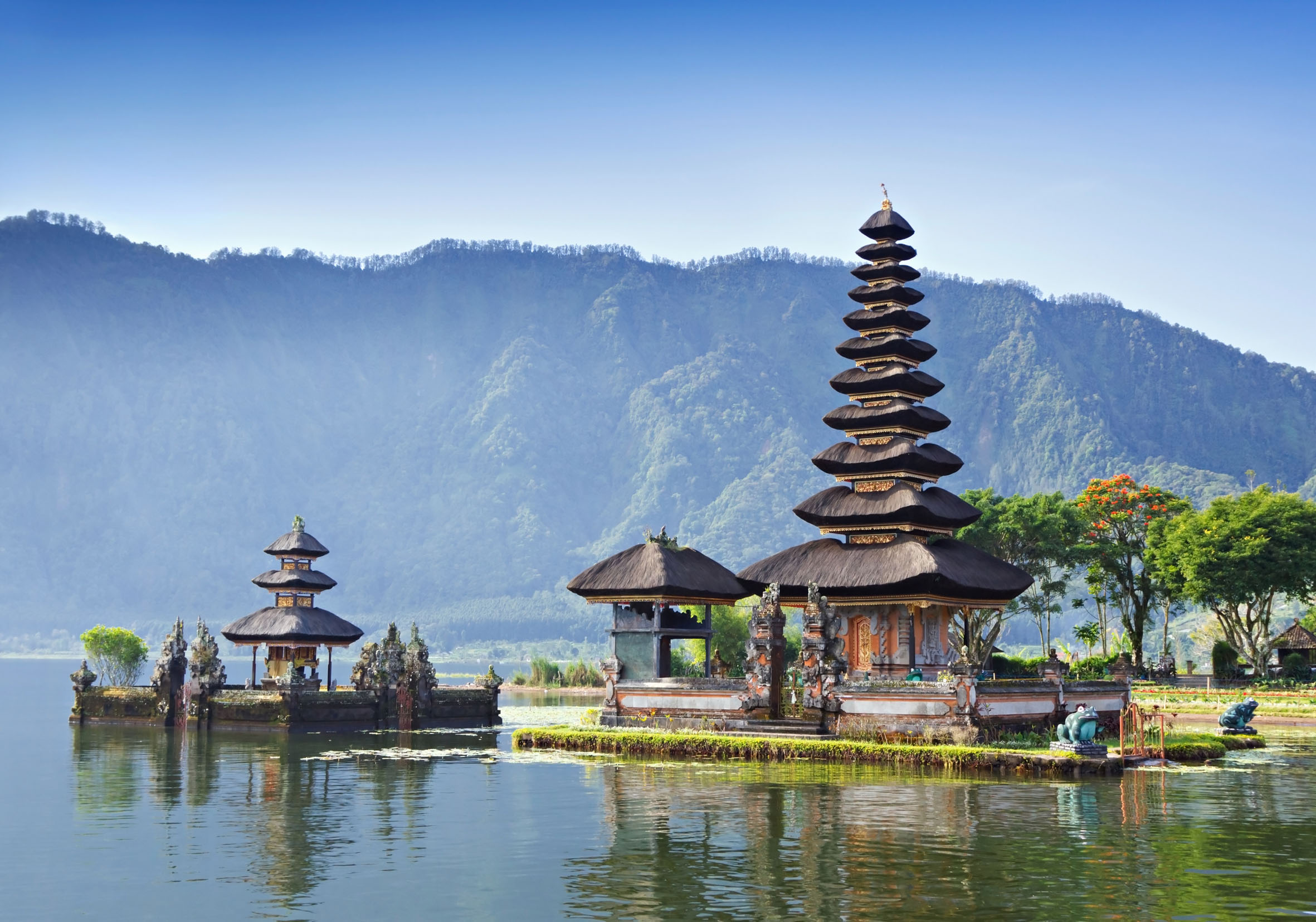 Bali Indonesia  City new picture : Bedugul is a mountain lake resort area in Bali, Indonesia, located in ...