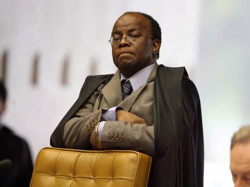 O ministro Joaquim Barbosa em sessão do STF
