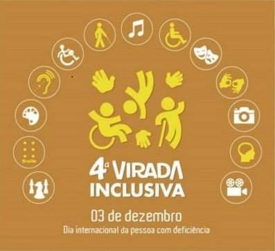 Cartaz da 4° Virada Inclusiva