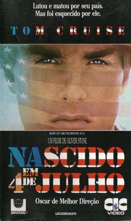 Capa do filme Nascido em 4 de Julho (Born on the Fourth of July)