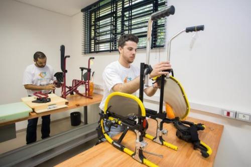 No local, também serão ministrados cursos para órteses, próteses, manutenção de cadeira de rodas e formação de cuidadores