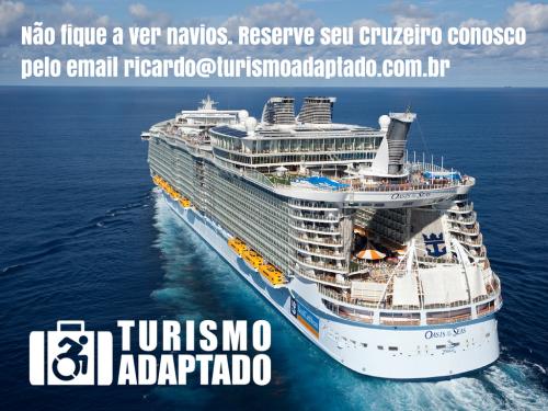 Não fique a ver navios. Reserve seu cruzeiro conosco através do email ricardo@turismoadaptado.com.br