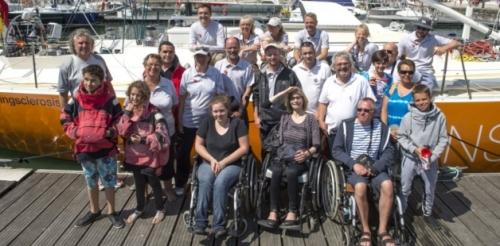 Pessoas com esclerose múltipla terão a oportunidade de experimentar a emoção de velejar no veleiro Oceans of Hope