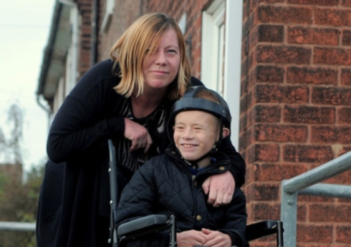 Sharon Parsons and her disabled son James has hit out after she was told he could not board a bus because he was in a wheelchair.