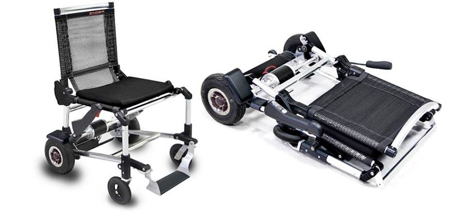 Ultralight Electric Wheelchair Folds Up Like A Lawn Chair