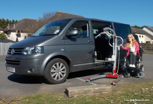 Tori and GM Coachwork and Adaptacar vehicle with a Molift Smart hoist