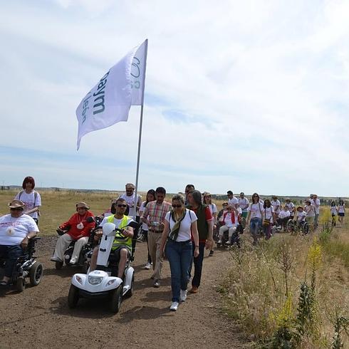 El grupo de Aspaym que el año pasado recorrió el Camino de Santiago