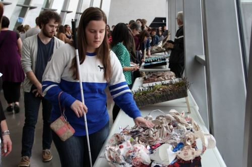 The Eli and Edythe Broad Art Museum featured an interactive, student-generated art exhibit that bridges painting and poetry