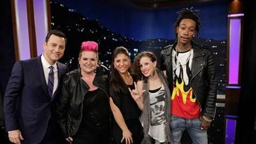 Amber Galloway Gallego on Jimmy Kimmel performing with Wiz Khalifa
