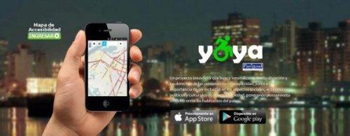 Yoya, la aplicación para smartphones que pretende crear un mapa de accesibilidad para personas con discapacidad en Paraguay