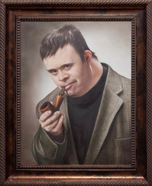 Síndrome de Down Michael e seu quadro como Sherlock Holmes