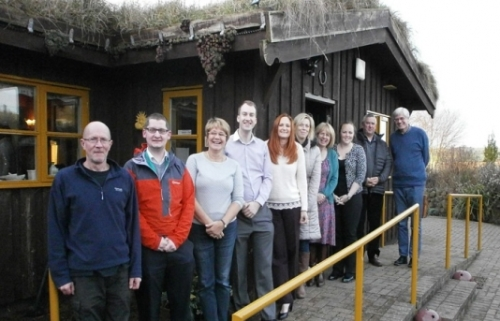 Kick-off meeting team members at The Hytte, Northumberland, by VisitEngland.