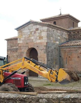 Obras de rehabilitación en San Pedro de la Nave