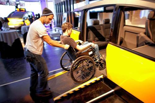 Parte da frota dos tradicionais taxis amarelos de Nova York também possuem acessibilidade
