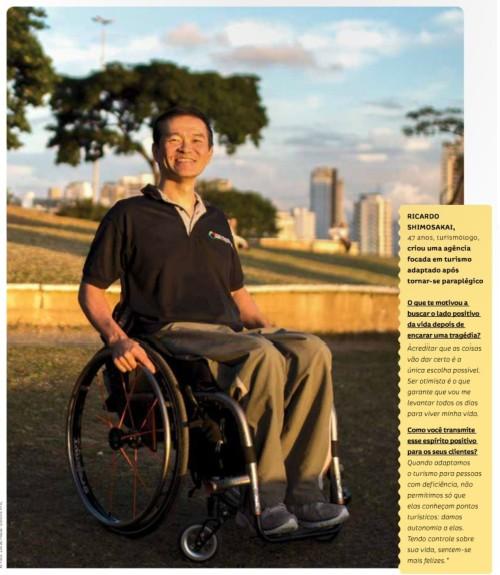 Ricardo Shimosakai fez da dificuldade com a acessibilidade, um diferencial para criar sua agencia de viagens
