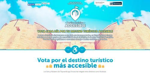 Campaña 'Vota por el destino turístico más accesible'