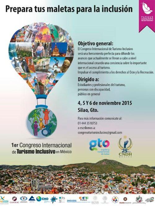 Prepara tus maletas para la inclusión. 1er. Congreso Internacional de Turismo Inclusivo por los derechos al Ocio y la Recreación.