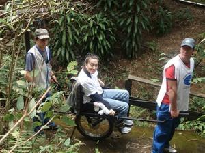 Cadeira de trilha adaptada
