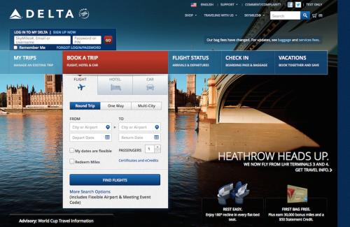O site da Delta Airlines será atualizado com recursos de acessibilidade para pessoas com deficiência visual