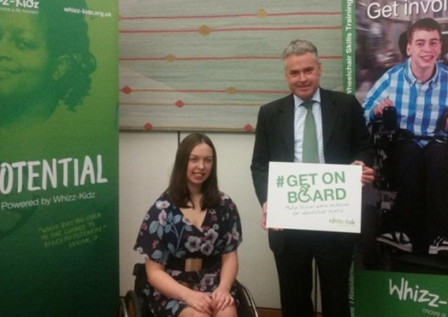 Tim Loughton MP has pledged to support for a new national campaign calling for more accessible travel and transport for young wheelchair