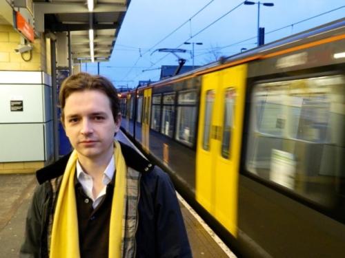 Liberal Democrat campaigner Niall Hodson at Millfield Metro Station