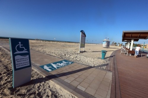 Roll-on access - the new wheelchair-friendly path at Kite Beach in Dubai.