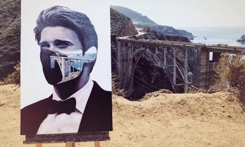 Beau Bernier Frank desenvolveu um novo estilo inovador e único de colagens de paisagens com retratos