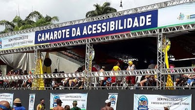 O Camarote da Acessibilidade do Galo da Madrugada terá capacidade para atender a 400 pessoas.