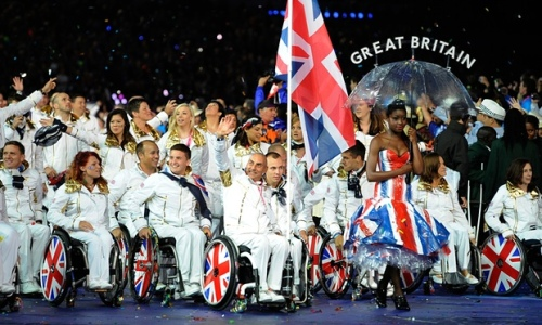 Team GB at the London 2012 Paralympic Games opening ceremony