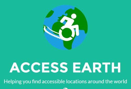 Access Earth. Ajudando você a encontrar locais acessíveis ao redor do mundo.