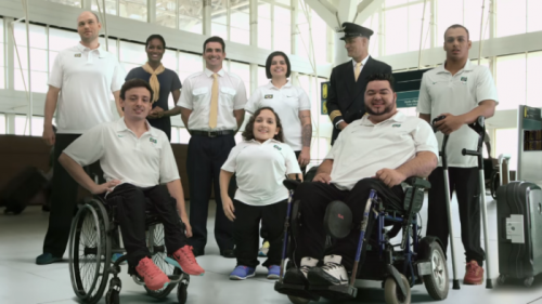 Atletas Paralímpicos participam da campanha de acessibilidade da Associação Brasileira das Empresas Aéreas (ABEAR)