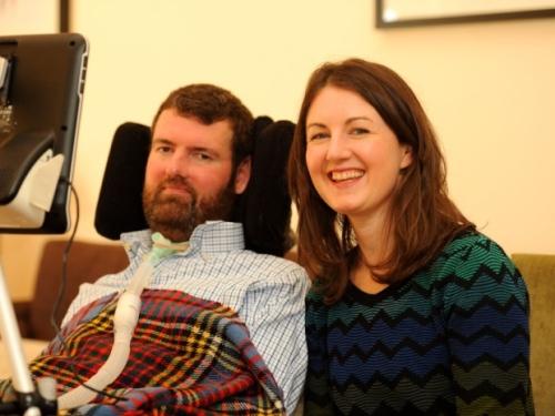 Euan MacDonald with sister Kiki.