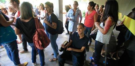 João Paulo teve nesta segunda-feira o primeiro dia de aula no Centro de Artes e Comunicação da UFPE.