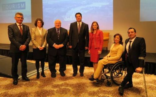 The Minister for Tourism and the Parliamentary Secretary for Rights of Persons with Disability addressed a business breakfast entitled Accessible Tourism for All