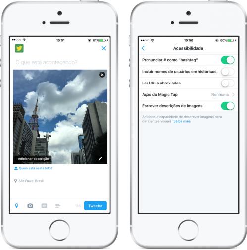 O recurso de acessibilidade do Twitter deve ser configurado no próprio aplicativo