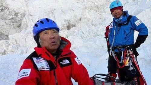 Yuichiro Miura en el Everest en 2013