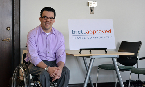 Brett Heising, the founder of Seed Spot venture Brett Approved, said he hopes to address the challenges of traveling accommodations for those with physical disabilities.