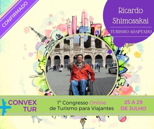 A palestra de Ricardo Shimosakai sobre Turismo Acessível será transmitida dia 27 de julho às 2000. Inscreva-se!