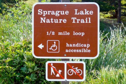 Handicap accessible Sprague Lake Nature Trail