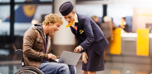 Airports and air companies offer assistance services