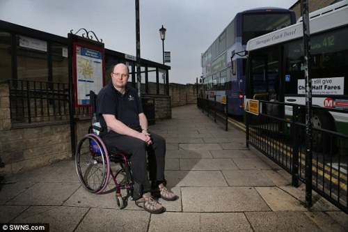 Mr Paulley says wheelchair users should not be left stranded if mothers refuse to fold their child's buggies