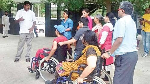 The first accessible tour — Kotturpuram tree walk; and (right) Aditya Sharma