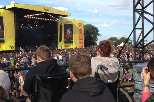 Wheelchair space at Leeds Festival