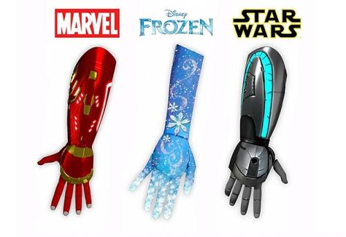 proteses-de-bracos-tematicos-da-marvel-frozen-da-disney-e-star-wars